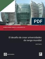 World-Class Universities Spanish