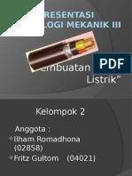 Presentasi Kabel Listrik TekMek3