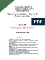 LIÇÃO 26.7.15 - Informações