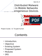 Optimal Distributed malware defense in mobile networks with heterogeneous devices.