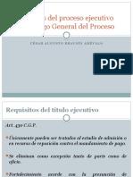 Presentacion Novedades Proceso Ejecutivo Cgp