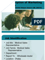 Job Description of Marketing Executive Final