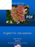 ITB ME - English for Job-seekers WORKSHOP