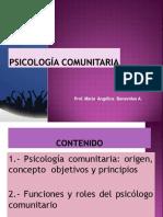 Clase N° 1 Qué es la Psicologia Comunitaria