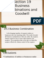 Section 19 Business Combination and Goodwill 1