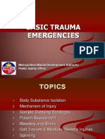 Basic Trauma Emergencies Response
