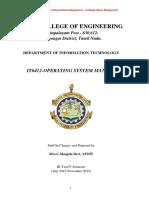 OPERATING SYSTEM LABORATORY MANUAL