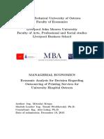 MBA Essay ManegerialEconomics MiroslavKrupa