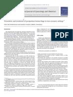 FIGO Guidelines Prevention and Treatment of PPH - Biru