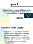 Consolidated FS Subsequent to Date of Purchase Type