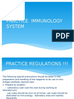 Practice Immunology System