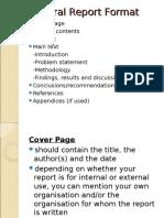 Report Writing Presentation