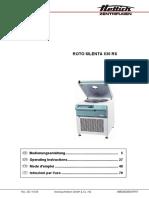 Hettich Roto Silenta 630 RS Centrifuge - User Manual