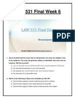 UOP Business Law 531 Week 6 Final Exam Question Answers
