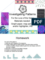 Investigating Patterns