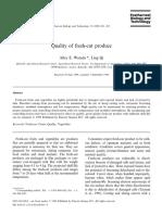 Watada, A. E., Qi, L. 1999. Quality of fresh-cut produce. Postharvest Biology and Technology.pdf