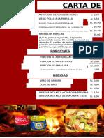 Carta de Platos El Parrillon