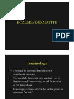 Curs 7 Eczeme Dermatite Feb2012