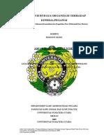Pengaruh Budaya Organisasi Terhadap Kinerja Pegawai