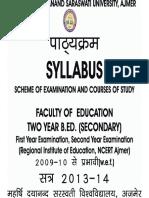 MDS UNIVERSITY-AJMER:B.Ed secondary, value education.reference