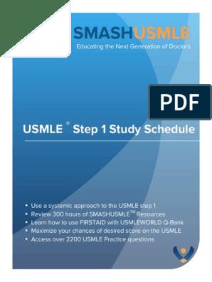 SMASHUSMLE Study Plan v1 | United States Medical Licensing