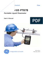 Pt878 Flowmeter User Manual English