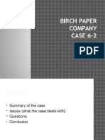 Birch Paper Company- Managerial