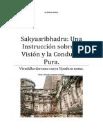 Sakyasribhadra Una Instrucción Sobre La Visión y La Conducta Pura.