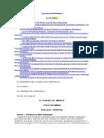 LEY Nº 28611 Ley General Del Ambiente