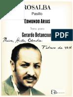 ROSALBA. Pasillo. Edmundo Arias. Transc. para piano Gerardo Betancourt.
