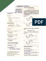 Matemática - Resumos Vestibular Memorex - Estudo das Sequências PA e PG