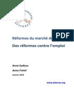 La note des Atterrés sur les réformes du marché du travail