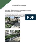 Tres Aspectos Paisajísticos de La Nueva Plaza 14 Septiembre
