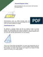 Matemática - Exercícios Resolvidos - Geometria Cones