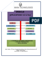 Oracle Application Technical Manual