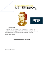 Proiect Didactic Eminescu
