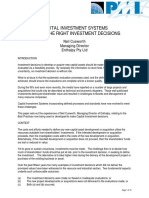 CIS-Making the Right Investment Decisions'