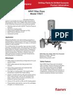 Filter Press HPHT 175R