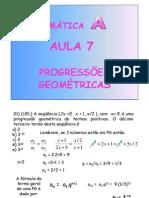 Matemática Aula 07 - Sequências PG
