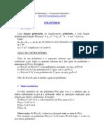 Matemática - Resumos Vestibular - SoMat - Polinomios