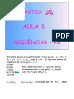 Matemática Aula 06 - Sequências PA