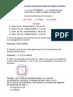 Matemática - Exercícios Resolvidos - Geometria Áreas II