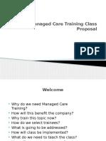 managed care training