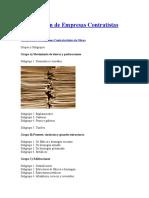 Clasificación de Empresas Contratistas