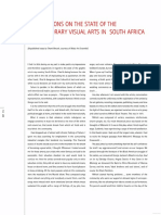 Observations on the State of the Contemporary Visual Arts in South Africa Red1