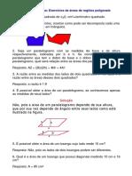 Matemática - Exercícios Resolvidos - Geometria Áreas I