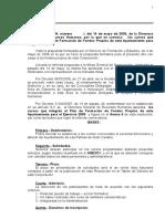 Convocatoria Fondos Propios 2009