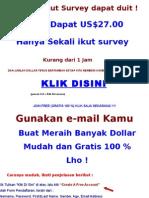 Ikut Survey Dapat Duit