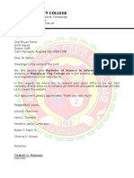 Sample Format Request Letter Interview