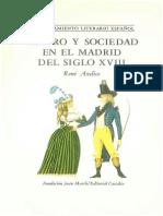 Teatro y Sociedad en El Madrid Del Siglo Xviii